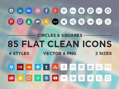 30+ кращих безкоштовних іконок соціальних мереж для Вашого веб-сайту