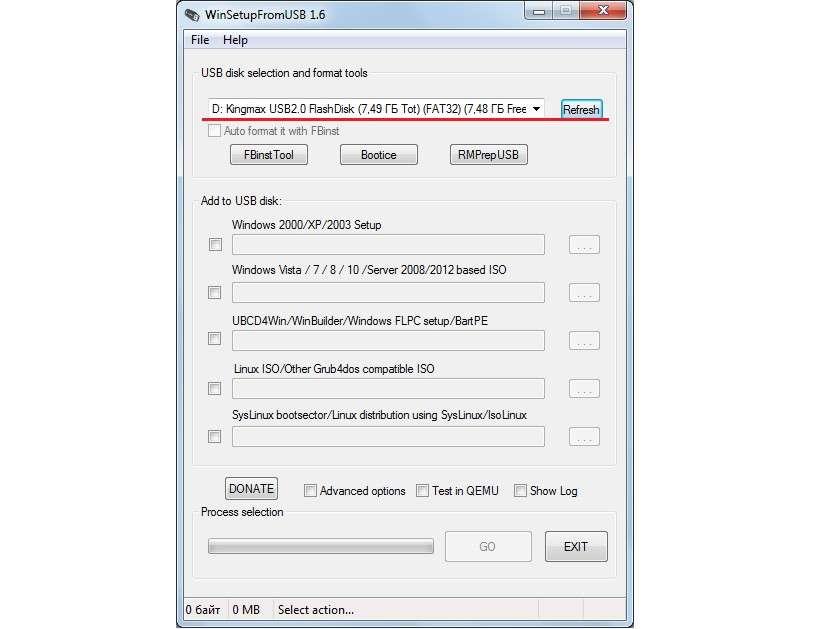 Інструкція по використанню WinSetupFromUSB — Повний опис